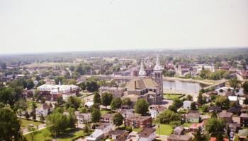 Vue aérienne du côté nord de Farnham