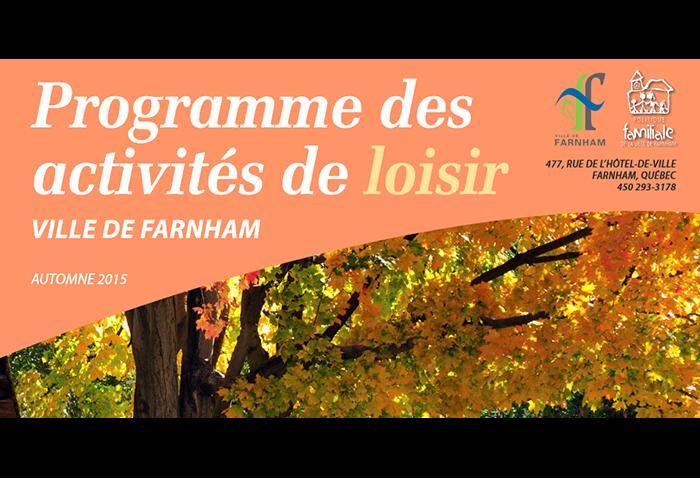 Inscriptions pour les loisirs de farnham pour l automne gens de farnham - Date de l automne ...