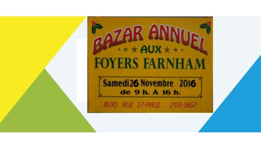 Bazar annuel aux Foyers Farnham