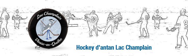 Hockey d'antan au Lac Champlain à Venise-en-Québec