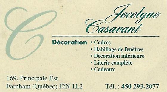 Décoration Jocelyne Casavant 2017 – Ouverture officielle