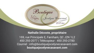 Décoration Jocelyne Casavant