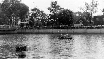 Courses de canots organisé par le club de chasse et pêche en 1976